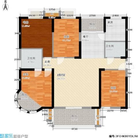 明发滨江新城4室0厅2卫1厨162.00㎡户型图