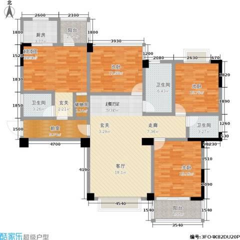 瑞都华庭3室0厅3卫1厨116.92㎡户型图