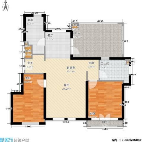 蓝湖郡2室0厅1卫1厨105.00㎡户型图