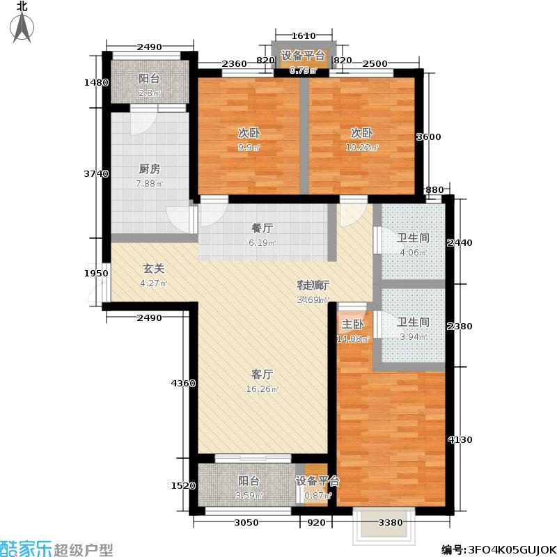 远洋海悦公馆138.00㎡2-4号楼、1、5、15、17号楼C2户型