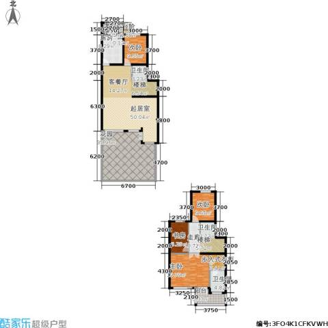 中房水木兰亭4室0厅3卫1厨172.24㎡户型图