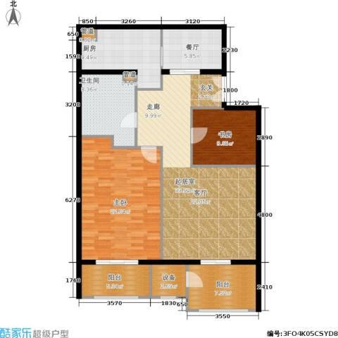 温莎大道2室1厅1卫1厨145.00㎡户型图