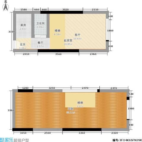 筑石派1室0厅1卫0厨75.00㎡户型图