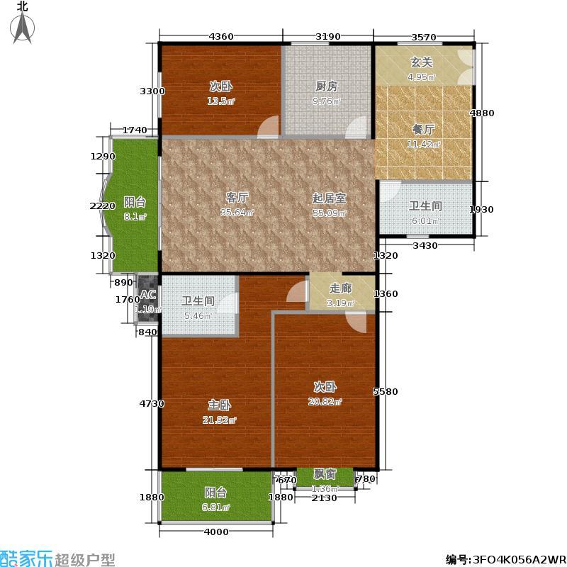 华盛家园157.04㎡2面积15704m户型