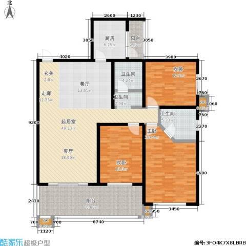 白沙湾嘉园3室0厅2卫1厨150.00㎡户型图
