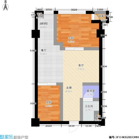 印象天心2室0厅1卫0厨58.00㎡户型图