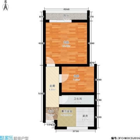 花园铁路新村2室0厅1卫0厨49.00㎡户型图