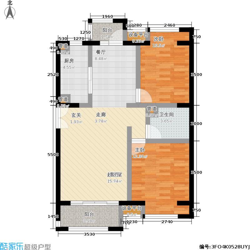 中海紫御公馆90.40㎡3号楼D2-2(面积9040m户型