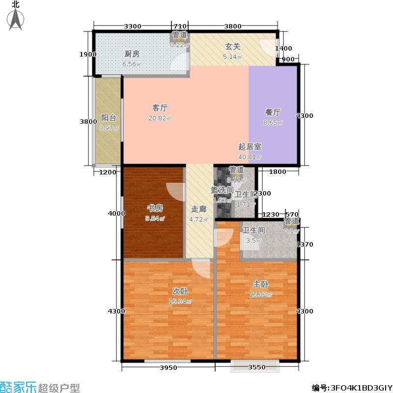 上东三角洲5.60㎡567号楼BB反面积13002m户型