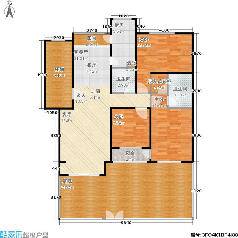 蓝调沙龙雅园135.69㎡A底23面积13569m户型