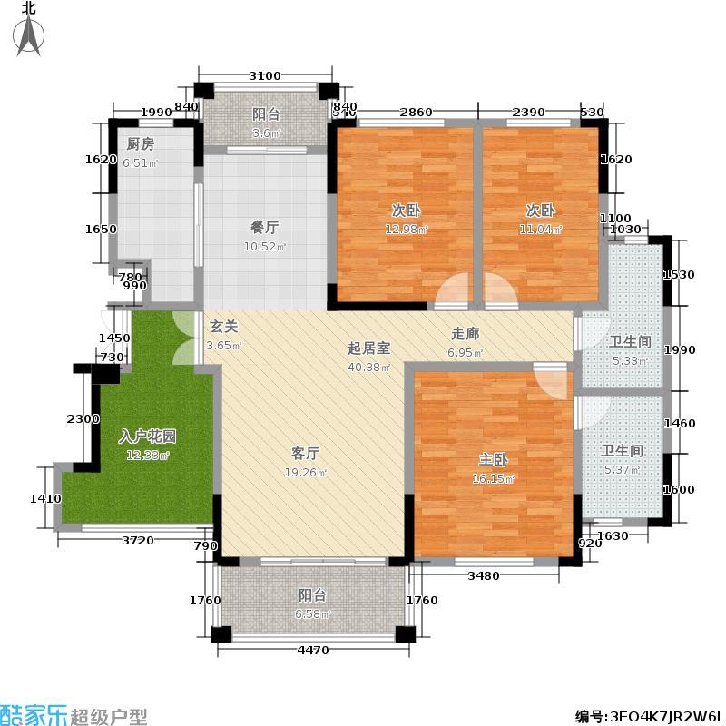 葛洲坝世纪花园137.00㎡E户型 3室2厅2卫户型3室2厅2卫