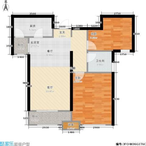 美克嘉美湾2室0厅1卫1厨89.00㎡户型图