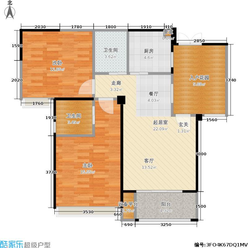 复地雍湖湾92.00㎡复地雍湖湾户型图A1户型(6/6张)户型2室2厅1卫