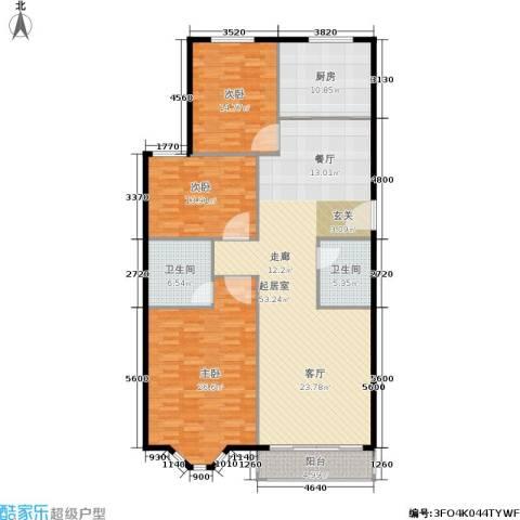 加州水郡西区3室0厅2卫1厨147.00㎡户型图