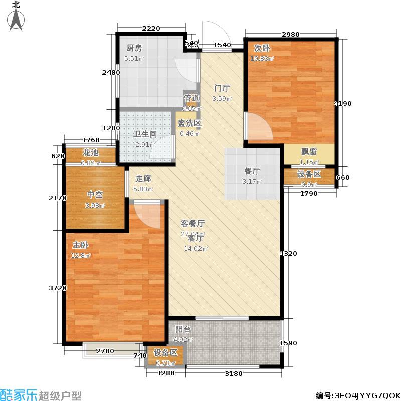 金地自在城82.00㎡四期6号楼标准层B2-3'户型
