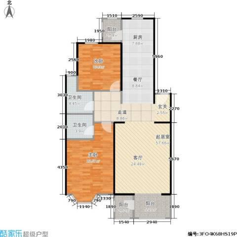 大宁山庄2室0厅2卫0厨109.00㎡户型图