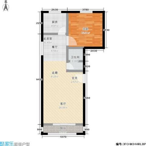 加州水郡西区1室0厅1卫1厨59.00㎡户型图