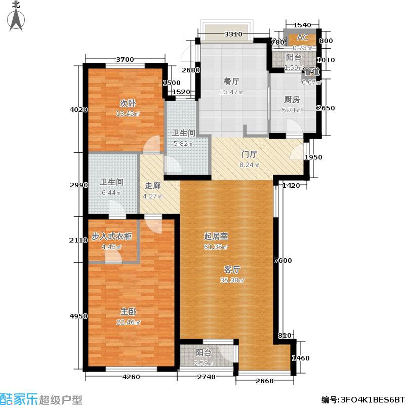 万科西山庭院151.00㎡23号楼A4户面积15100m户型
