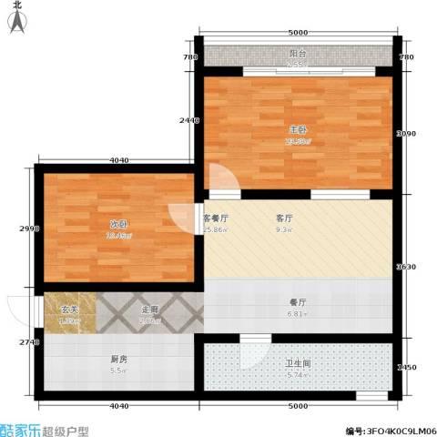 采荷路14号2室1厅1卫0厨66.00㎡户型图