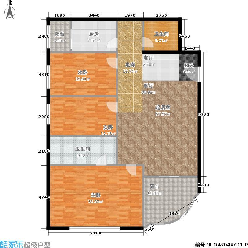 锦湖园公寓170.00㎡面积17000m户型