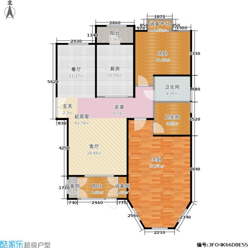 世界名园128.78㎡世界名园户型图A1户型两室两厅两卫(6/25张)户型2室2厅2卫