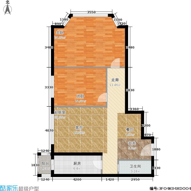 锦湖园公寓97.00㎡面积9700m户型