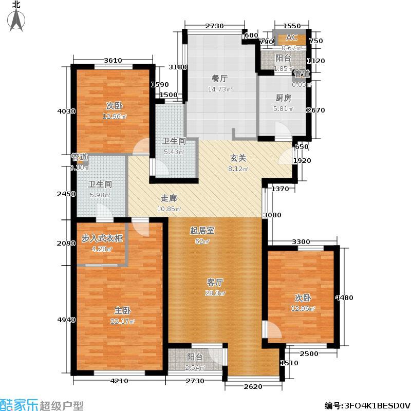 万科西山庭院167.00㎡23号楼A1户面积16700m户型