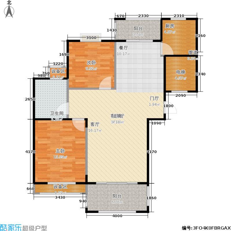 华瑞湘湖美地104.00㎡22、25号楼H4户型