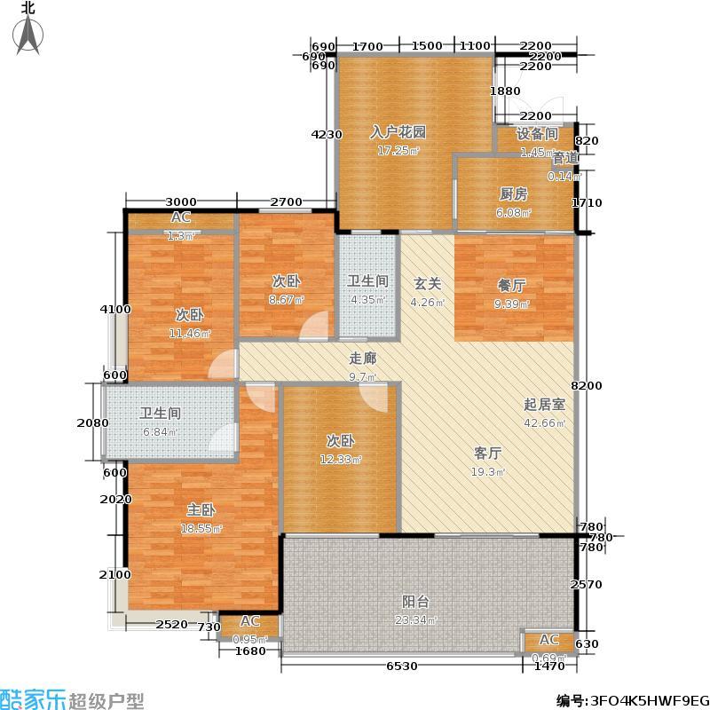 景秀江山160.00㎡四室两厅两卫户型