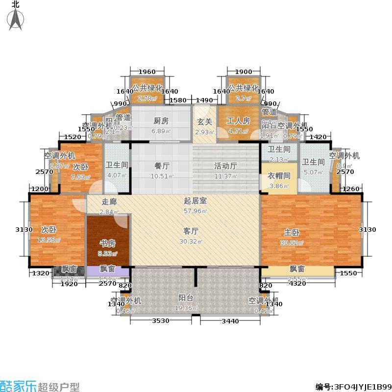 东海花园188.00㎡10、13座十八层面积18800m户型