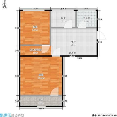 曙光新村2室0厅1卫1厨54.00㎡户型图