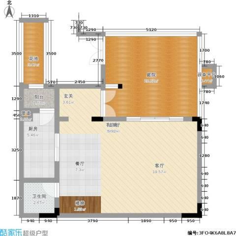 万科城1厅1卫1厨168.00㎡户型图