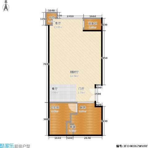 国瑞紫金阁1厅1卫1厨64.00㎡户型图