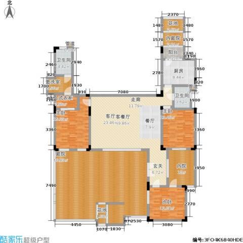 万科城3室1厅2卫1厨201.25㎡户型图