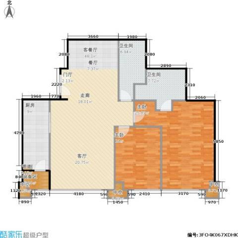 国瑞紫金阁2室1厅2卫1厨155.00㎡户型图