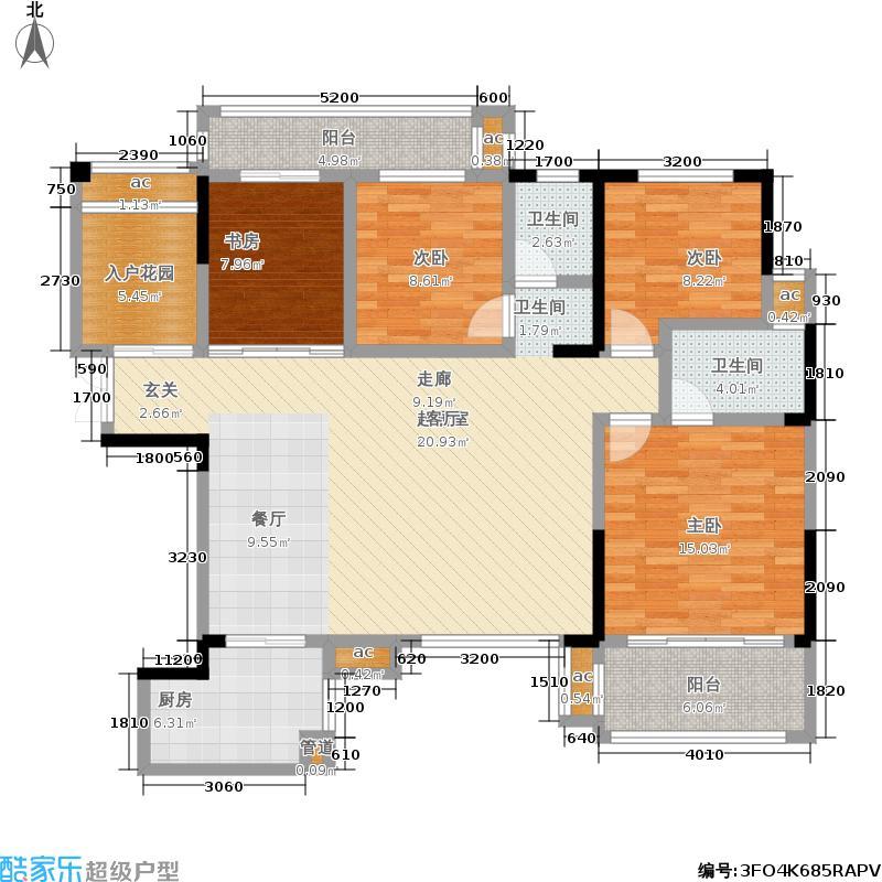 鑫远和城138.83㎡F1户型4室2厅2卫