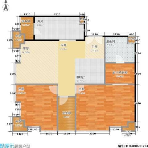 国瑞紫金阁2室1厅2卫1厨100.00㎡户型图