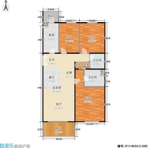 阳春光华家园3室0厅2卫1厨142.00㎡户型图