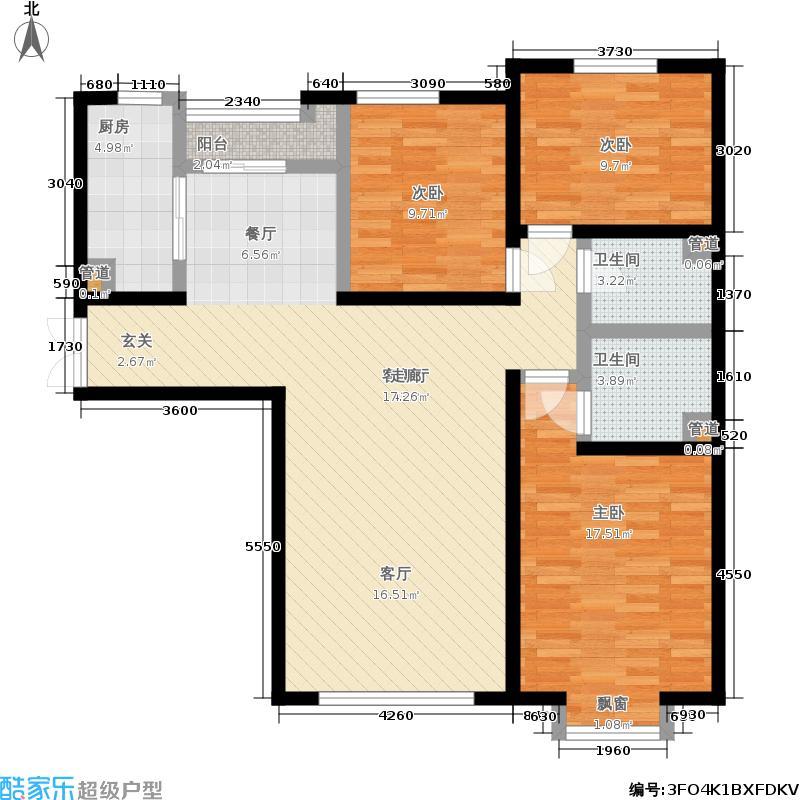 合生国际花园129.88㎡东区12号楼面积12988m户型