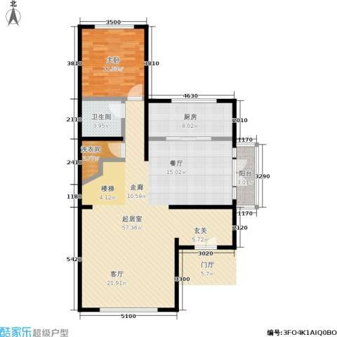 国瑞生态城1室0厅1卫1厨121.00㎡户型图