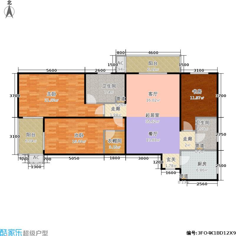 上东三角洲141.45㎡1、2、3号楼E面积14145m户型
