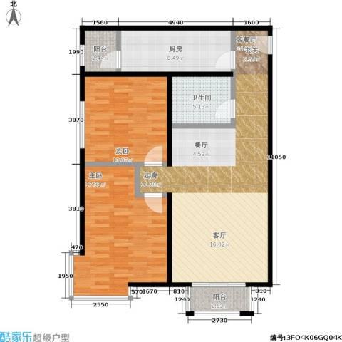 嘉都 TIME2室1厅1卫1厨94.00㎡户型图