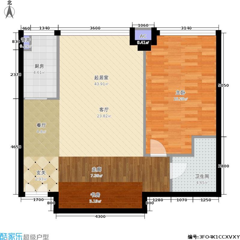 东晶国际5号楼P5户型