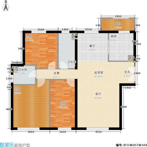 天润・香墅湾1号3室0厅2卫1厨150.00㎡户型图