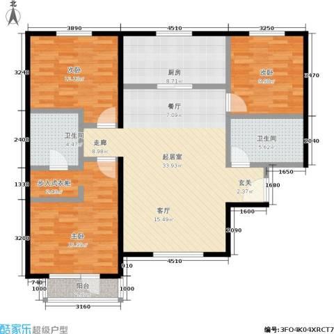 首开智慧社3室0厅2卫1厨130.00㎡户型图