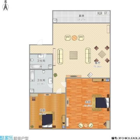 齐鲁世纪园2室1厅2卫1厨239.00㎡户型图