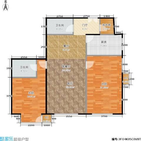 和平里de小镇2室1厅2卫1厨127.00㎡户型图