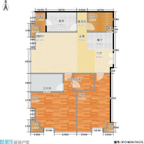 国瑞紫金阁2室1厅2卫1厨136.00㎡户型图