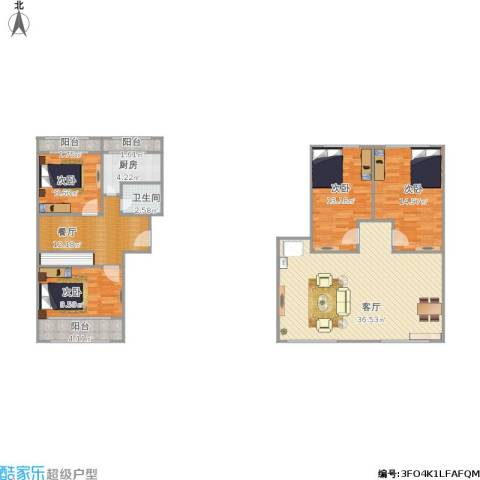 珠江罗马嘉园一期4室2厅1卫1厨148.00㎡户型图