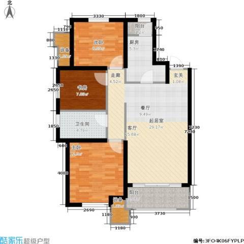 美克嘉美湾3室0厅1卫1厨108.00㎡户型图